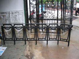 酒店工程楼梯扶手 会所铁艺栏杆 别墅室梯栏