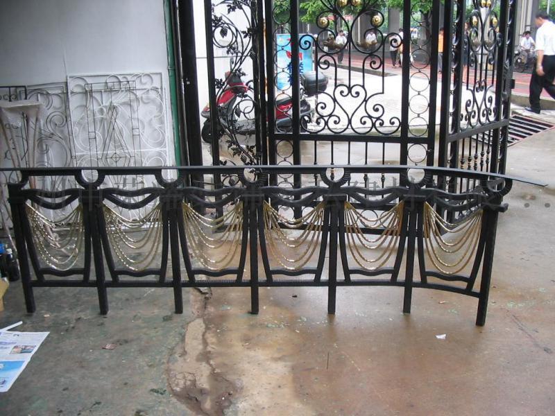 酒店工程樓梯扶手 會所鐵藝欄杆 別墅室梯欄
