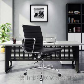 伊姆斯办公电脑椅职员皮椅厂家直销中班椅牛皮西皮转椅