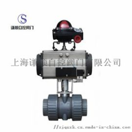 Q611S气动PVC塑料球阀厂家直销