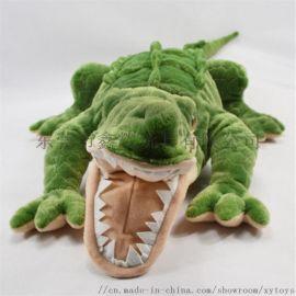 供應毛絨動物玩具仿真鱷魚毛絨抱枕來圖來樣定做