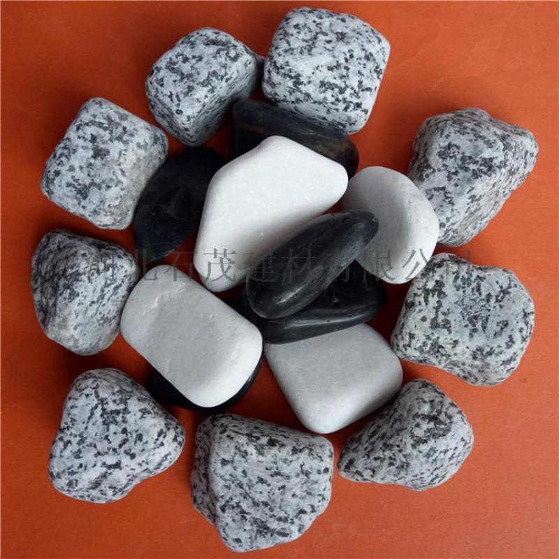 杂色鹅卵石 建筑装饰纯色鹅卵石 水处理鹅卵石