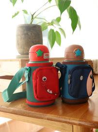 大容量316不锈钢保温杯可爱幼儿园儿童水杯带吸管两用水壶小学生