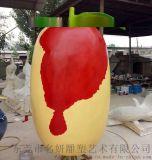模擬玻璃鋼紅棗雕塑像演繹大棗子文化體驗區不一樣風景