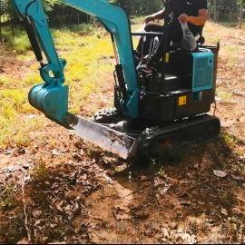 二手抓草机 园林绿化用小型挖掘机 六九重工履带式抓