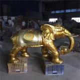 佛山大象卡通雕塑 玻璃鋼卡通動物雕塑商場美陳