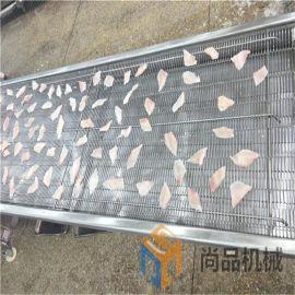 全自动五香刀鱼段上浆裹粉机 脆皮刀鱼裹粉设备生产线