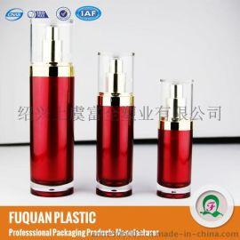 直圆大红色护肤品乳液瓶 爽肤水瓶 简单大方 容量多选 上虞厂家直销