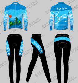夏季骑行服套装速干透气吸湿排汗骑行服长袖套装男女款