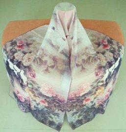 真丝数码印花丝巾 (0172)