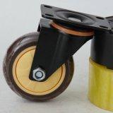 3寸 4寸金鑽黑架子咖啡單軸萬向腳輪 咖啡色單軸承活動腳輪批發