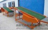 可升降PVC皮帶輸送機 人字波紋防滑貨物裝車皮帶機