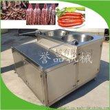 蒜蓉腸紅腸南方臘腸加工成套設備立式液壓灌腸機