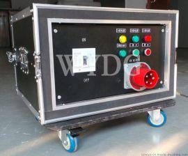 供应舞艺9路航插配电箱 航空箱配电柜 可定制