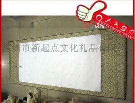 ****仿菱画轴 装裱东莞精装丝绸卷轴 空白书法字画卷轴可开票