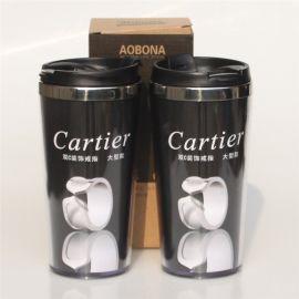 远业 外塑内钢杯子420ML   品牌保健茶杯茶具不锈钢水杯