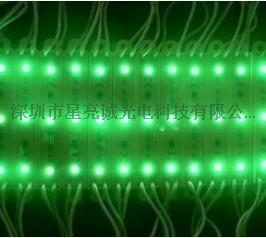 供应3528绿光LED模组 广告发光字 贴片模组 三灯绿光