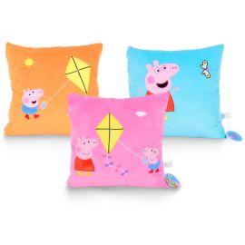 玩偶世界 佩佩猪抱枕 水晶超柔毛绒抱枕 peppa pig小猪佩奇抱枕