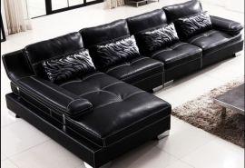 真皮欧式沙发 羽绒 大小户型现代客厅简约转角