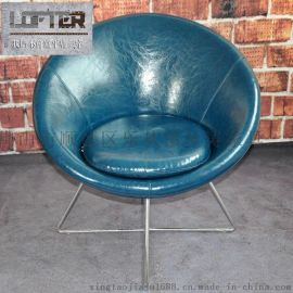 LOFTER月亮椅靠头懒人沙发懒人椅休闲雷达椅真皮沙发椅躺办公椅潮