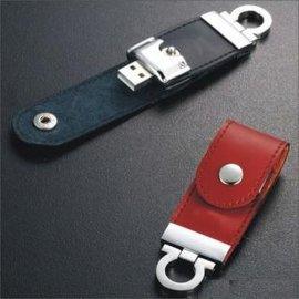 皮革u盘工厂 皮质USB 公司商务礼品随身碟 足量8GB