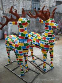 供应大型彩绘雕塑 大型户外卡通动物泡沫雕塑