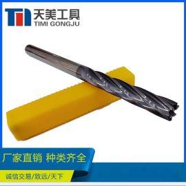 HRC55 钨钢硬质合金加长螺旋6刃铰刀 数控刀具超硬刀具 支持定制