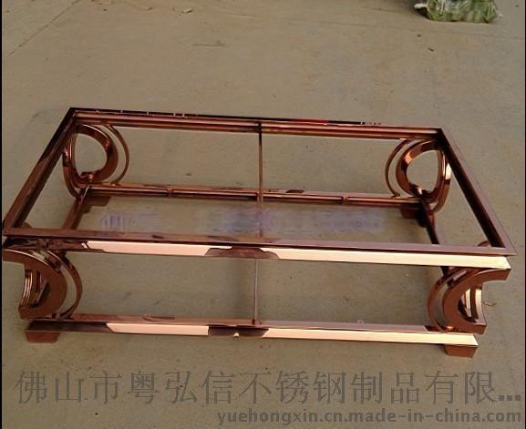 北京不锈钢压花茶几脚供应 佛山不锈钢茶几价格