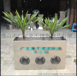 专业设计生产园艺装饰不锈钢花盆  不锈钢种植花瓶 金属花器