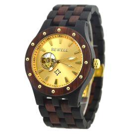 贝威尔品牌**男士手表时尚商务全自动机械套装木表