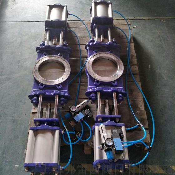 DN300气动双插板阀PZ673H-16P