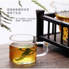 (非独立包装)加厚耐热透明工夫茶具主人品茗杯6只装
