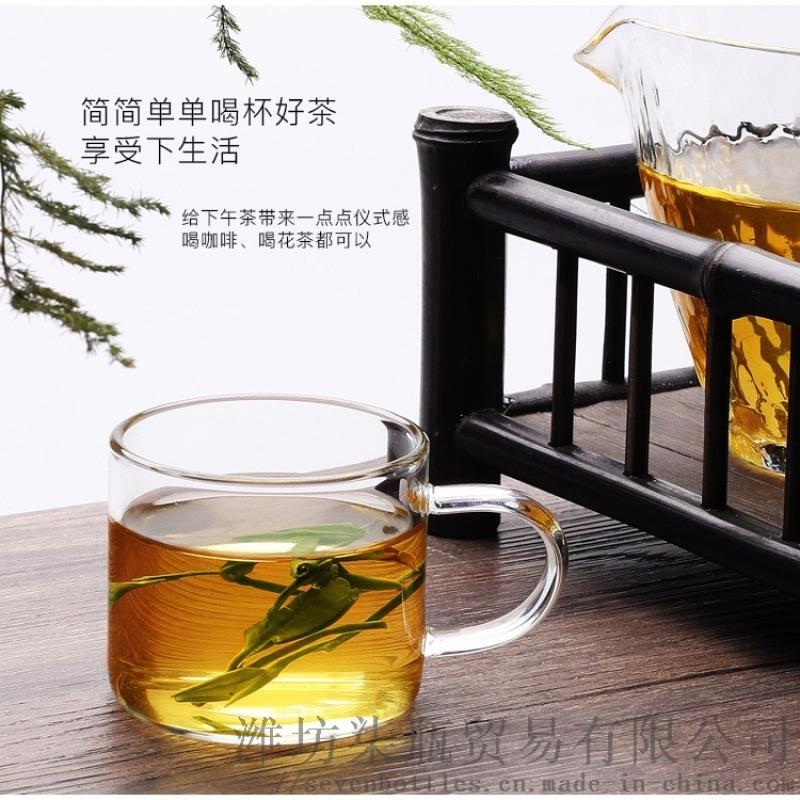 (非獨立包裝)加厚耐熱透明工夫茶具主人品茗杯6只裝