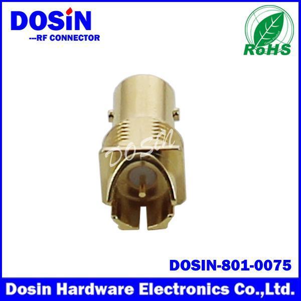 德索/DOSIN-801-0075卡板75欧姆镀金BNC音频视频连接,板端BNC母头