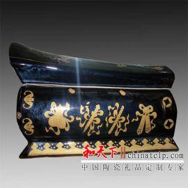 陶瓷棺材 高温颜色釉骨灰盒 丧葬用品 抗氧化耐腐蚀防虫蛀