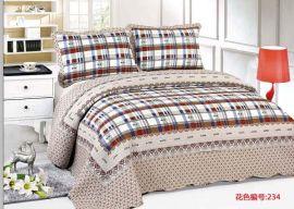 纯棉床盖三件套外贸印花绗缝被四件套空调被儿童二件套厂家直销
