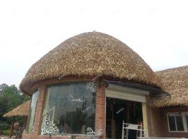 厂家销售铝制仿真茅草 稻草瓦屋面装饰瓦 低价优惠