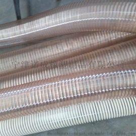 供应广东PU钢丝软管、PU伸缩软管、聚氨酯吸尘软管