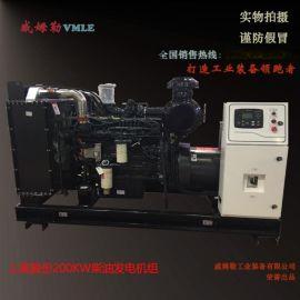 全铜200千瓦上柴发电机组 200KW柴油发电机组  厂家报价 威姆勒