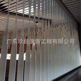 室内2.0铝单板扭曲造型 双曲异形铝单板定制铝单板