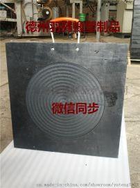方形中间圆槽聚乙烯泵车支腿垫板圆形网格泵车支腿垫板