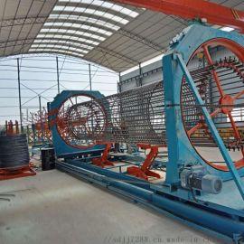数控钢筋加工设备滚笼焊机、山东制造生产钢筋笼成型机