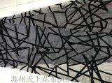 中東流行圍巾花型國外定制款錦絨印花布蘇州工廠按需定制