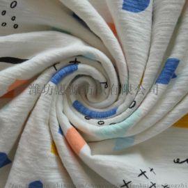 50s匹马棉针织面料 染色印花针织布 床上用品面料