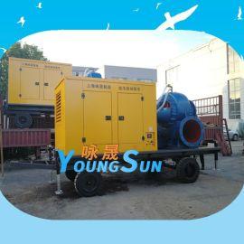 防汛移动泵车 柴油机水泵机组 650HW-10