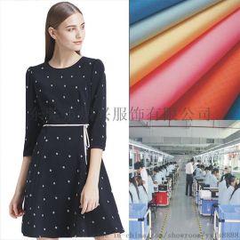 虎门服装欧美连衣裙加工定制女装加工连衣裙贴牌生产