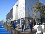 廣汽新能源體驗中心外立面鋁格柵幕牆