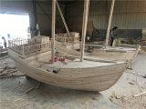 四川綿陽北川木質海鮮船傳統手工定制木船
