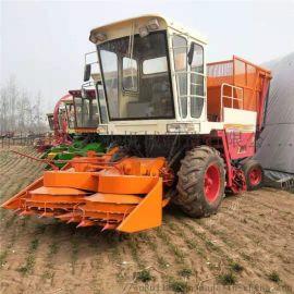 轮式玉米秸秆青储机 自带扒皮玉米收获机