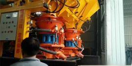 一拖二单料斗隧道用喷浆机组/高效率干喷机组视频图片